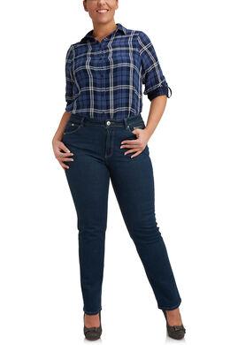 Jeans 5 poches de coupe droite, Denim
