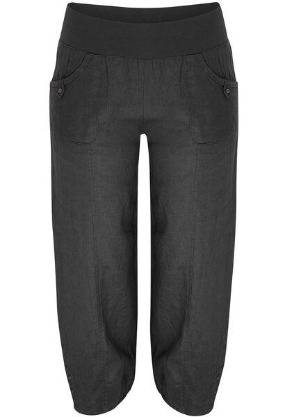 Pantalon 7/8 en lin - Noir