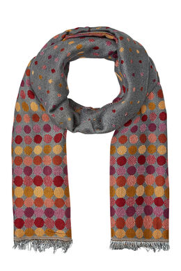 Jacquardsjaal met stippen, Multicolor
