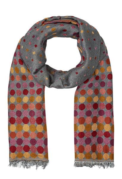 Jacquardsjaal met stippen - Multicolor