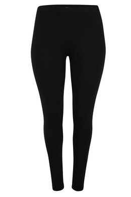 Lange, basic legging Zwart
