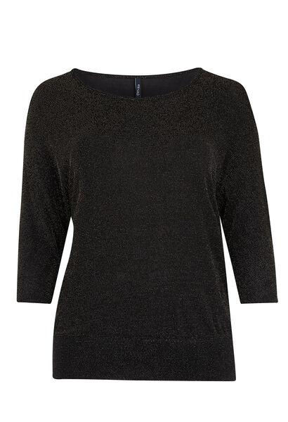 T-shirt en maille lurex - Noir