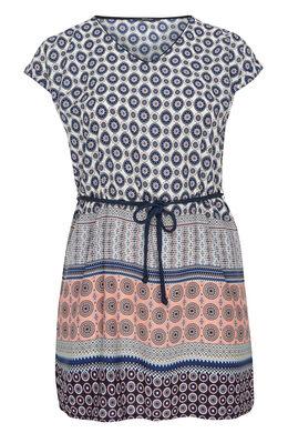 Robe tunique ceinturée, Corail