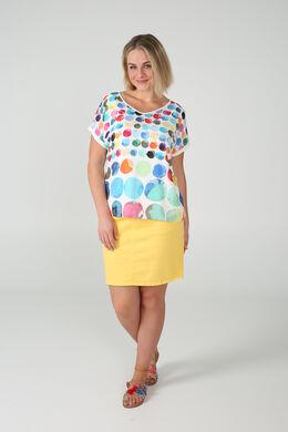 T-shirt met gekleurde cirkels, Multicolor