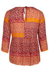 Chemisier patchwork, Orange