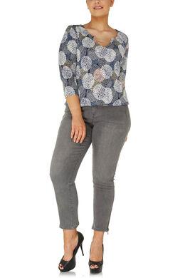 Jeans 5 poche 7/8ème, Gris