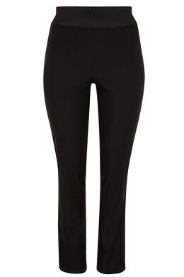 Geklede broek met elastische taille, Zwart