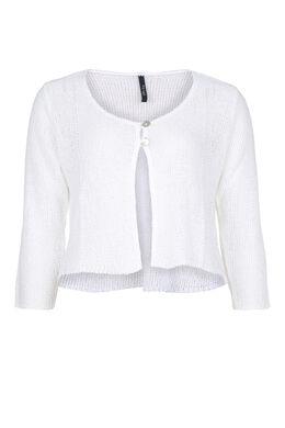 Cardigan van licht tricot, Wit