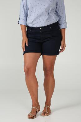 Katoenen short, Marineblauw