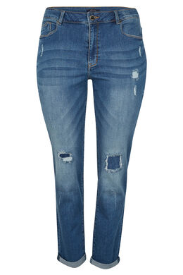 Slim jeans gescheurd effect, Denim
