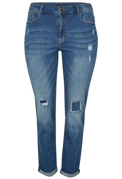 Jeans slim effet déchirure - Denim