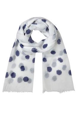 Sjaal met grote stippen, Wit