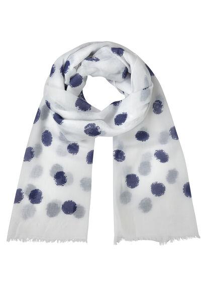 Sjaal met grote stippen - Wit