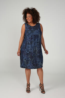 Robe en tencel imprimé, Denim
