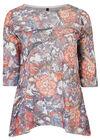 Ruime trui met bloemenprint, Multicolor