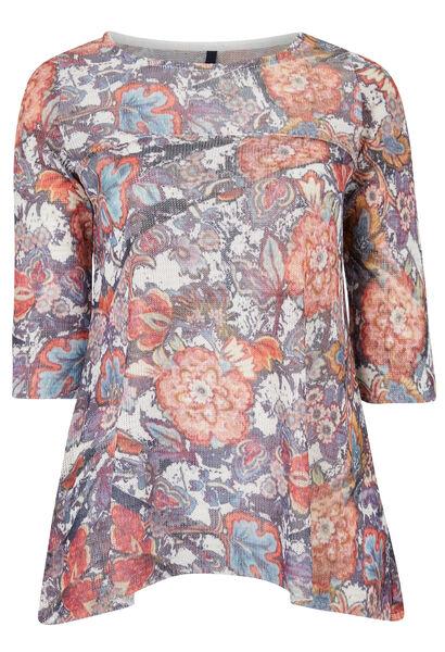 Ruime trui met bloemenprint - Multicolor