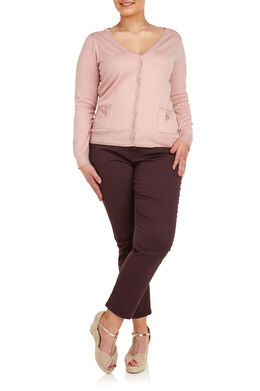 Cardigan met lurex Blush