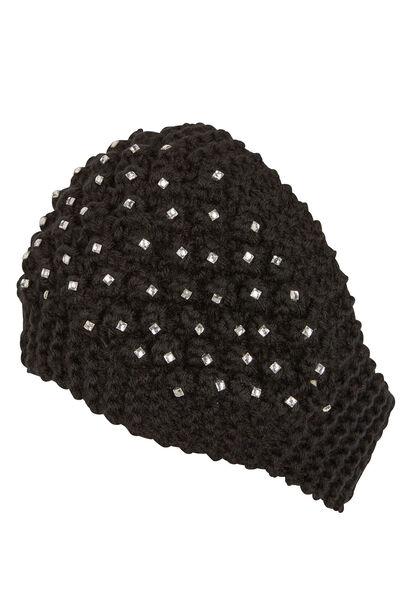 Haarband met strassteentjes - Zwart