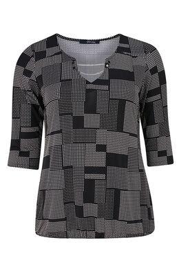 T-shirt met grafische print, Zwart