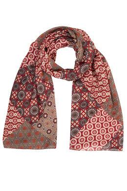 Sjaal met bebloemde mozaïekpatch Bordeaux