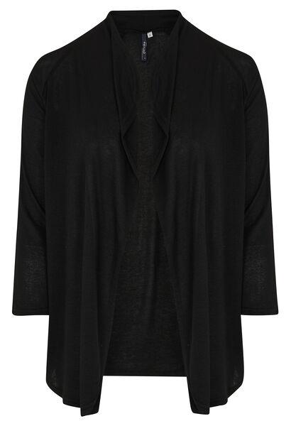 Warme, gebreide cardigan - Zwart