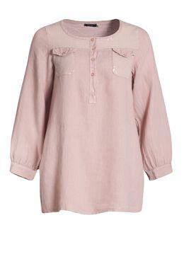 Bloes in linnen met lovertjes, Roze