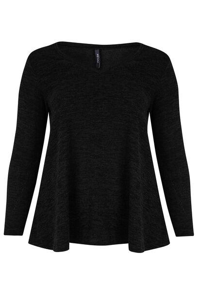 Tuniek van warm tricot - Zwart