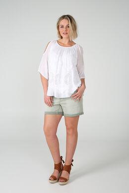 Short 5 poches en coton, Kaki-clair