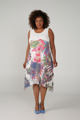 Robe longue imprimé jungle, multicolor