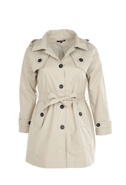 Trench capuche amovible - Beige