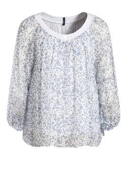 Ruime bloes kraag met lovertjes Wit