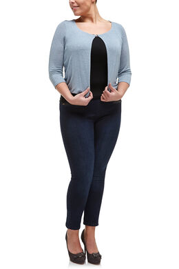 Vest met lurexdetail, Lichtblauw