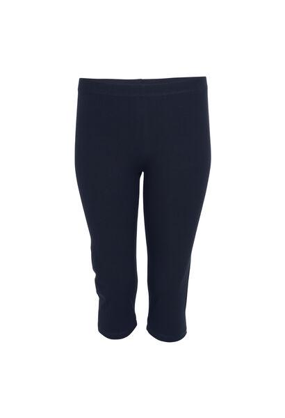 Klassieke legging van biokatoen - Marineblauw