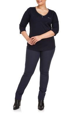Katoenen T-shirt, Marineblauw