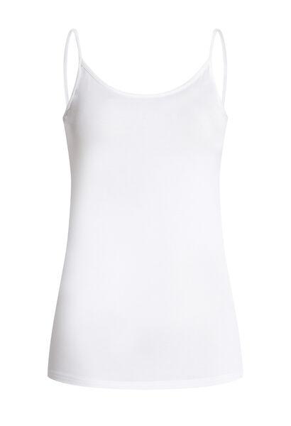 Top met dunne schouderbandjes - Wit