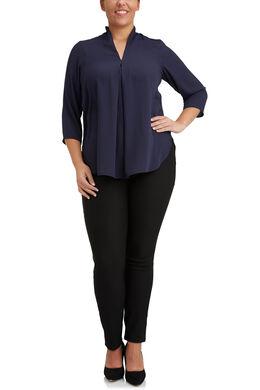 Ruime blouse van voile, Marineblauw