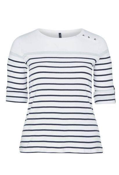 T-shirt rayures marinière - Blanc