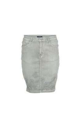 Rechte rok met 5 zakken, Licht kaki