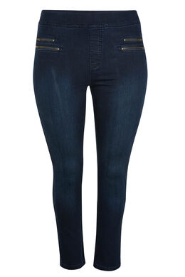 7/8-jegging van jeansstof, Denim