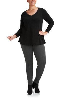 Tuniek van warm tricot, Zwart