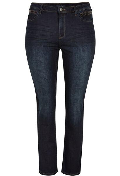 Rechte jeans met 5 zakken - Denim