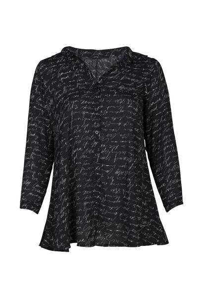 Lange blouse - Zwart