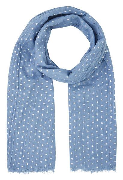 Sjaal met bolletjesprint - Lavendel