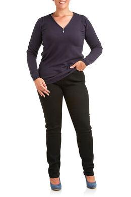 Vormgevende slim jeans met 5 zakken Zwart