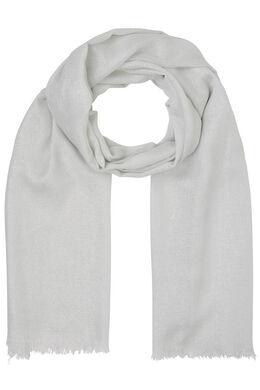Sjaal met glansdraad, Ecru