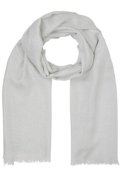 Sjaal met glansdraad - Ecru