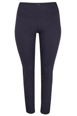 Slim fit broek met sierstiksels, Marineblauw