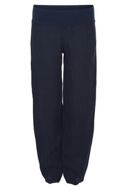 Pantalon long en lin, Marine