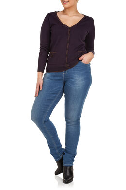 Jeans met 5 zakken, slim model Denim