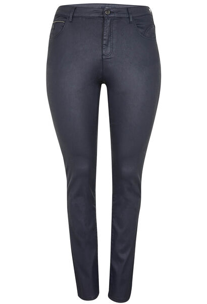 Pantalon slim enduit - Marine